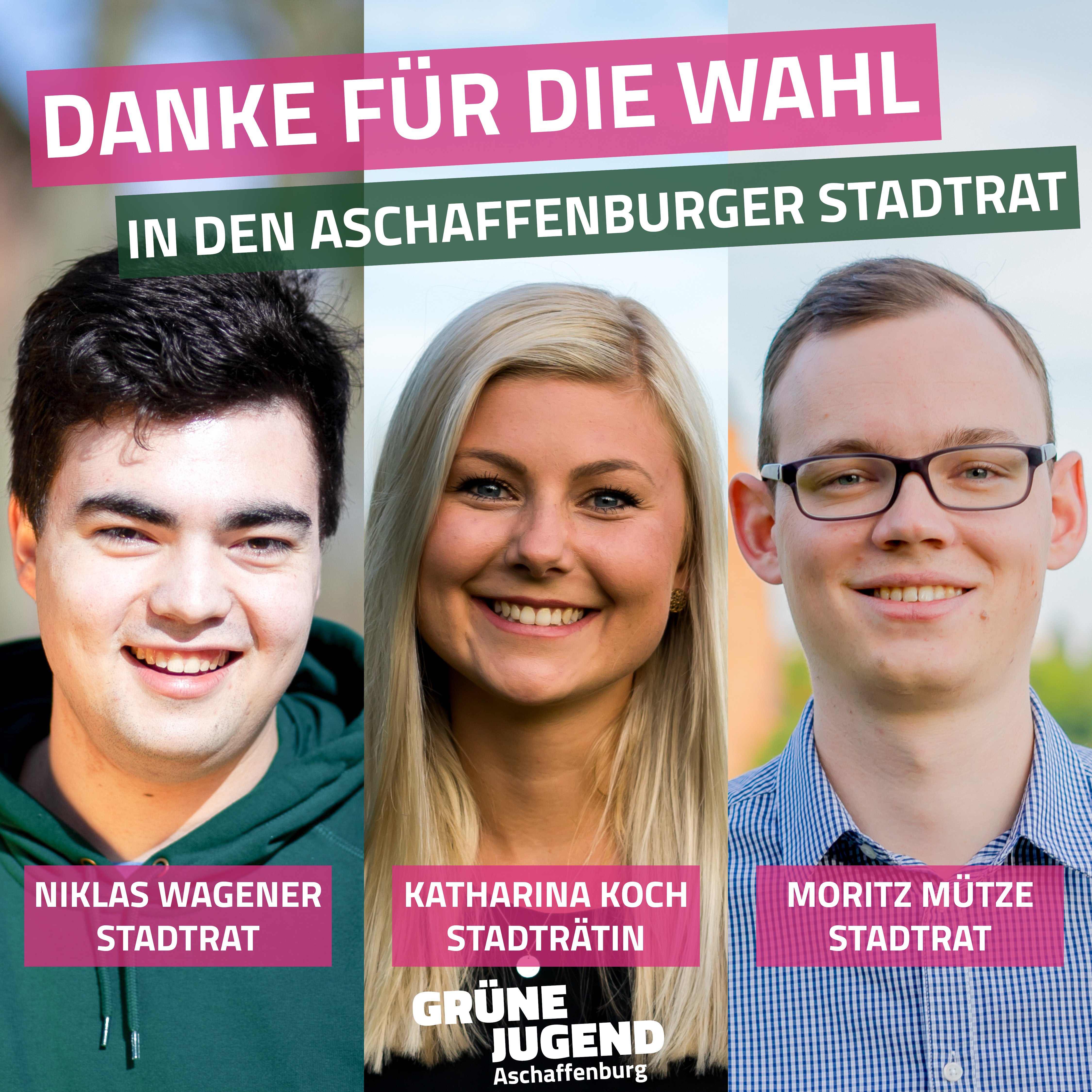 Grüne Jugend stark im Aschaffenburger Stadtrat und Kreistag verteten!