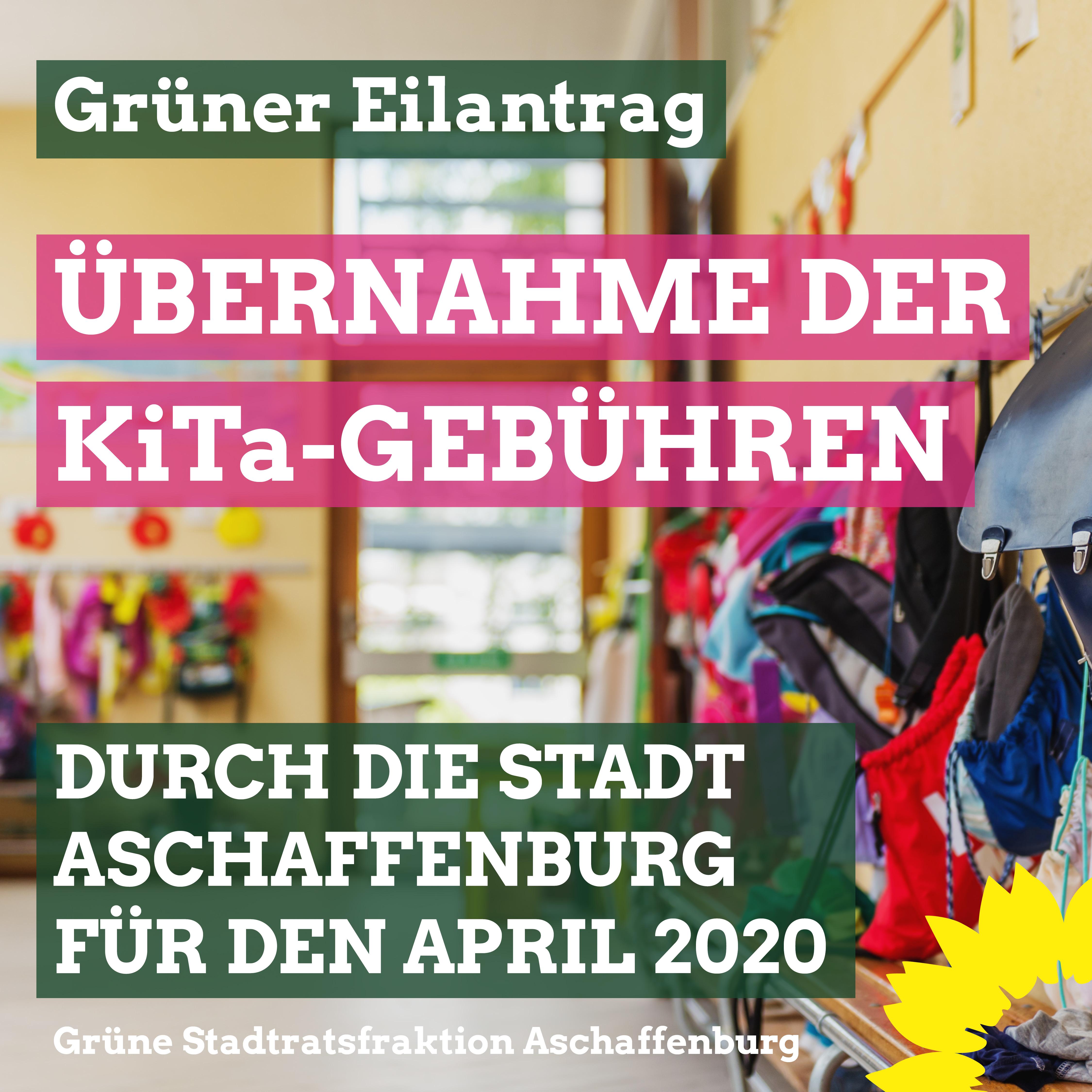 Grüner Eilantrag: Übernahme der KiTa-Gebühren durch die Stadt!