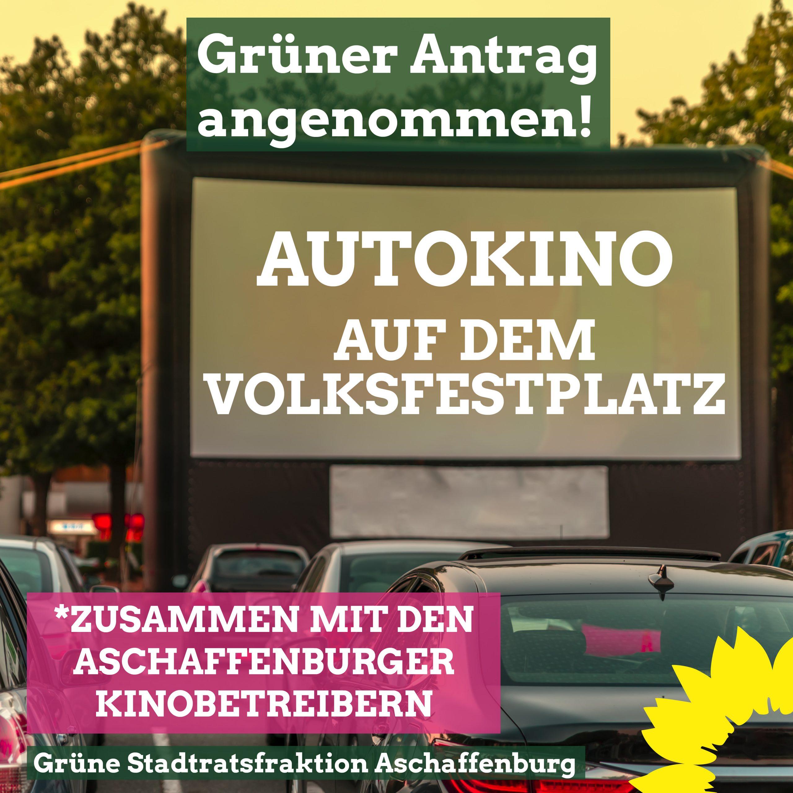 Grüner Erfolg: Autokino kommt!