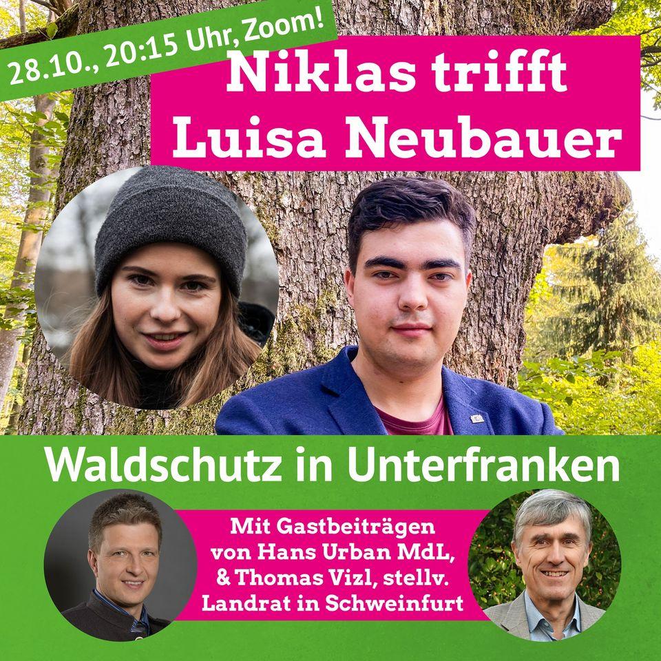 Waldschutz in Unterfranken – Zoom mit Luisa Neubauer