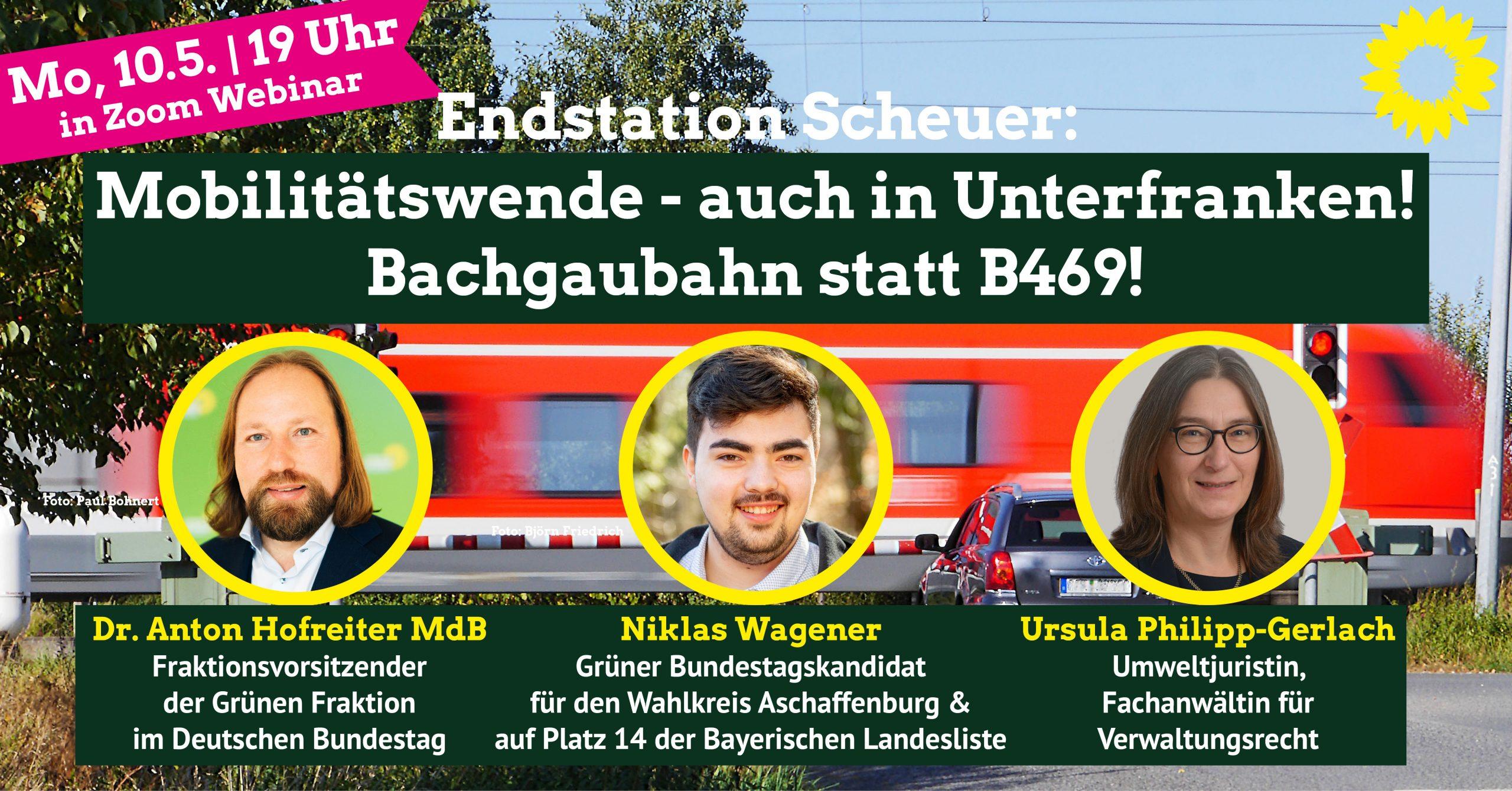 Mobilitätswende auch in Unterfranken – Bachgaubahn statt B469!