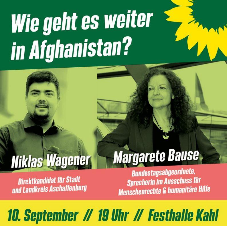 Wie geht es weiter in Afghanistan? Mit Margarete Bause (MdB) und Niklas Wagener